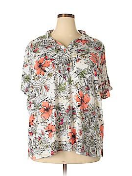 Rebecca Malone Short Sleeve Polo Size 3X (Plus)