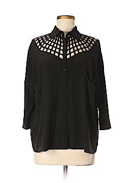 Vena Cava 3/4 Sleeve Silk Top Size S