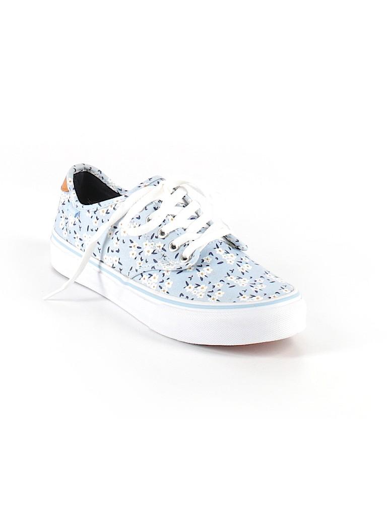 e021d0b8f8 Vans Floral Light Blue Sneakers Size 8 - 50% off
