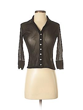 Petit Pois Long Sleeve Button-Down Shirt Size S