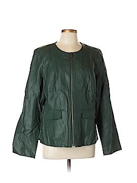 Kelly By Clinton Kelly Faux Leather Jacket Size L