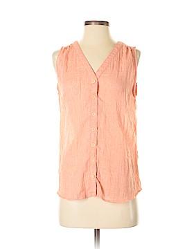 Very J Sleeveless Button-Down Shirt Size S