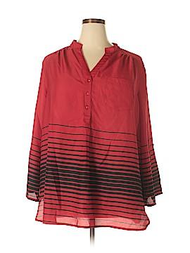 Hart Denim Long Sleeve Blouse Size 24 (Plus)