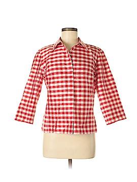 EVELYN & ARTHUR 3/4 Sleeve Silk Top Size M