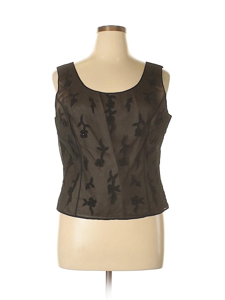 Albert Nipon Women Sleeveless Blouse Size 18 (Plus)
