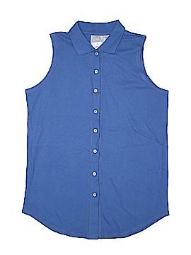 Erika & Co. Sleeveless Button-Down Shirt Size M
