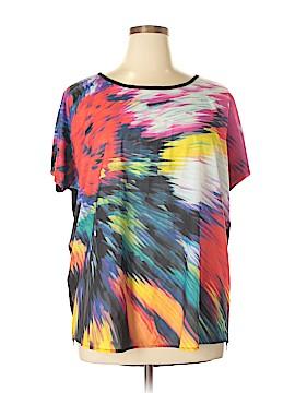 Tribal Short Sleeve Blouse Size 1X (Plus)