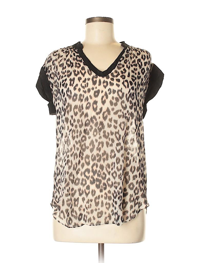 PJK Patterson J. Kincaid Women Short Sleeve Silk Top Size M