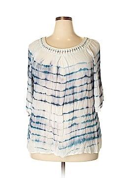 Bobeau Short Sleeve Blouse Size 1X (Plus)