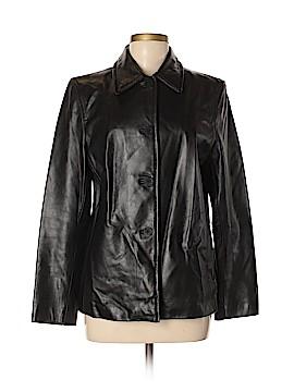 Nine West Faux Leather Jacket Size M