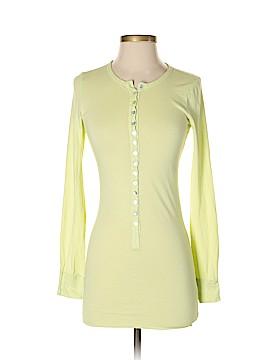 Velvet Long Sleeve Button-Down Shirt Size P