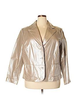 Dialogue Leather Jacket Size 2X (Plus)
