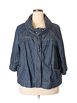 Nine West Denim Jacket Size 2X (Plus)