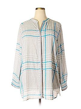 Foxcroft Long Sleeve Blouse Size 22 (Plus)