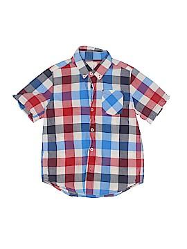 Peek... Short Sleeve Button-Down Shirt Size 6 - 7