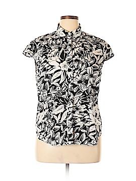 Jones New York Sport Short Sleeve Blouse Size 1X (Plus)