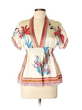 Yumi Kim Short Sleeve Silk Top Size L