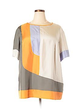 Lafayette 148 New York Short Sleeve Silk Top Size 1X - 2X (Plus)