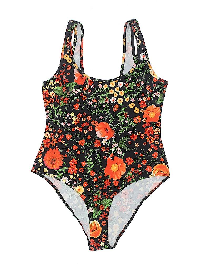 6a7f45a608555 Zara Floral Black One Piece Swimsuit Size M - 25% off | thredUP