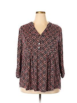 Roz & Ali 3/4 Sleeve Top Size 3X (Plus)
