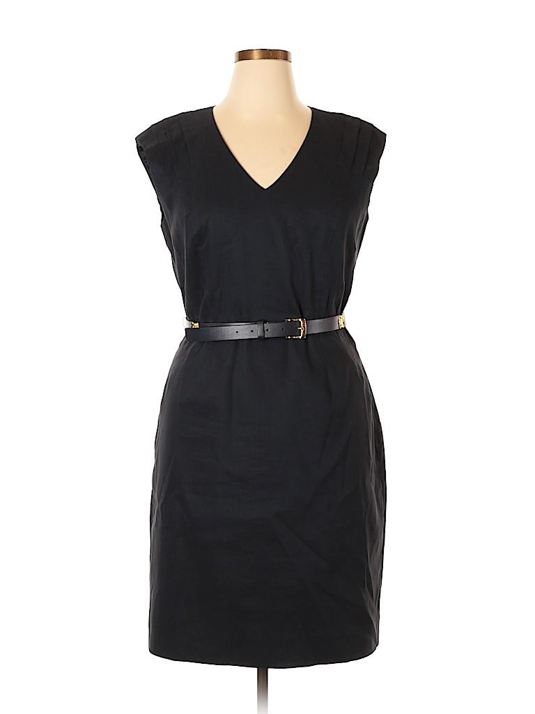 15006d098fb Antonio Melani Solid Navy Blue Casual Dress Size 14 - 62% off