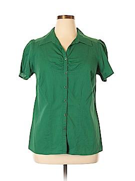 Venezia Short Sleeve Button-Down Shirt Size 14 - 16 Plus (Plus)