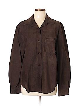 Ann Taylor Leather Jacket Size XL
