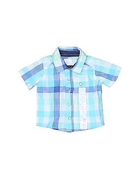 Little Wonders Short Sleeve Button-Down Shirt Newborn