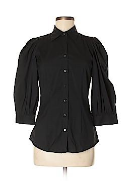 Massimo Dutti 3/4 Sleeve Button-Down Shirt Size 40 (FR)