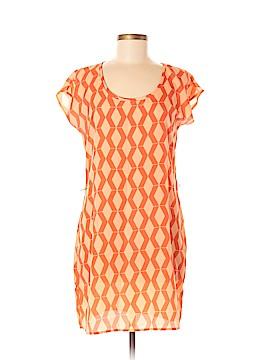 Peach Love Cream California Short Sleeve Blouse Size M