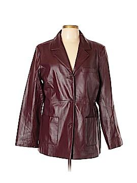 Dialogue Leather Jacket Size L