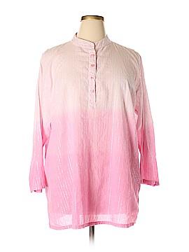 Silhoutte 3/4 Sleeve Button-Down Shirt Size 2X (Plus)