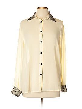 Xtaren Long Sleeve Button-Down Shirt Size L