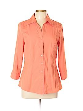 Como Long Sleeve Button-Down Shirt Size L