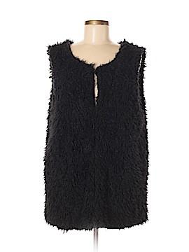 Bobeau Faux Fur Vest Size XL
