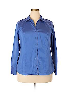 Lane Bryant Long Sleeve Button-Down Shirt Size 18 (Plus)