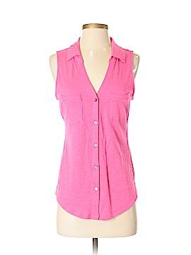 Express Sleeveless Button-Down Shirt Size S