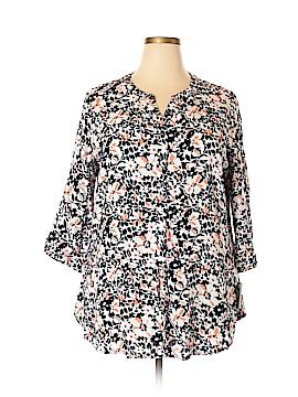 Croft & Barrow 3/4 Sleeve Button-Down Shirt Size XXL