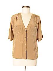 Amanda Uprichard Women Short Sleeve Silk Top Size M