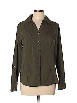 Relativity Long Sleeve Button-Down Shirt Size XL (Petite)