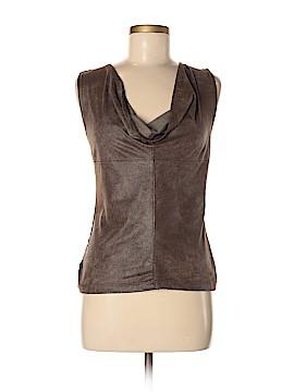 Velvet Leather Top Size P