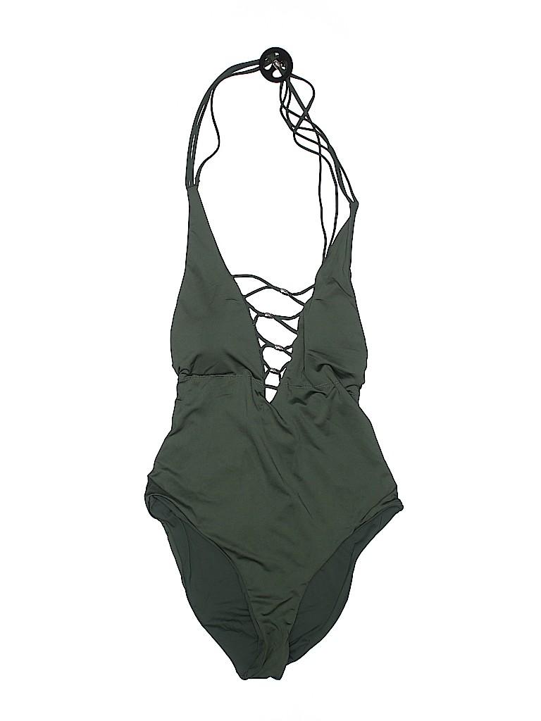 3e17fdbb08 tini bikini Solid Dark Green One Piece Swimsuit Size XL - 73% off ...