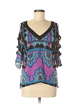 Nicole Miller Short Sleeve Blouse Size XS