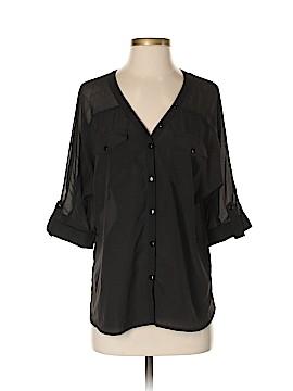 Black Rainn Long Sleeve Blouse Size S