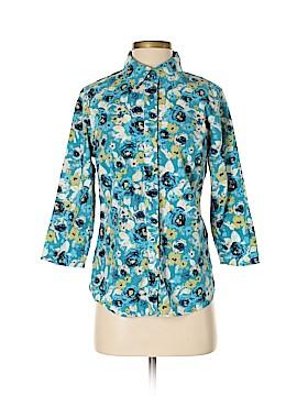 Breckenridge 3/4 Sleeve Button-Down Shirt Size S