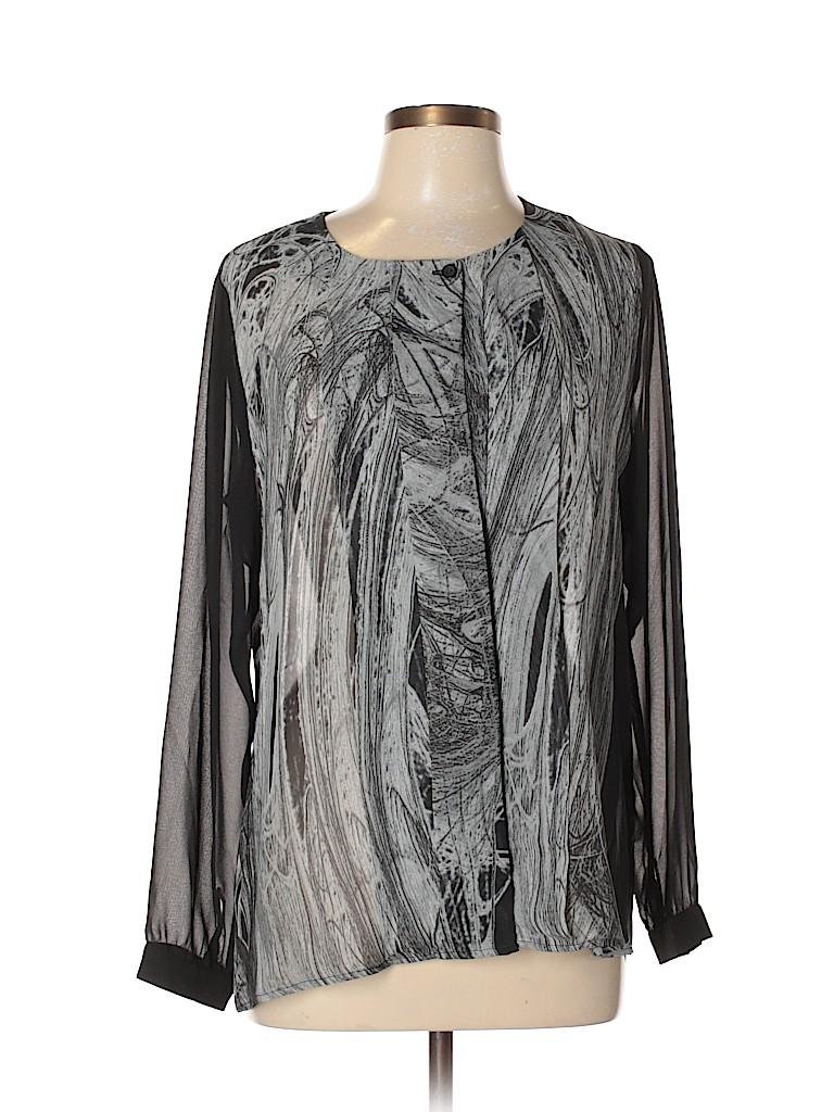 Ronen Chen Women Long Sleeve Blouse Size 10 (3)