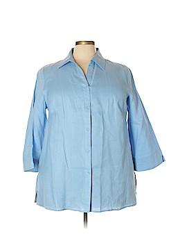 Richard Malcom 3/4 Sleeve Button-Down Shirt Size 3X (Plus)