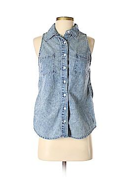 Scarlet Boulevard Sleeveless Button-Down Shirt Size S
