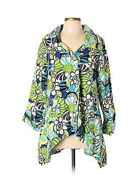 For Cynthia Long Sleeve Button-Down Shirt Size L