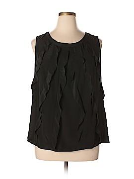 Halogen Sleeveless Silk Top Size 14W